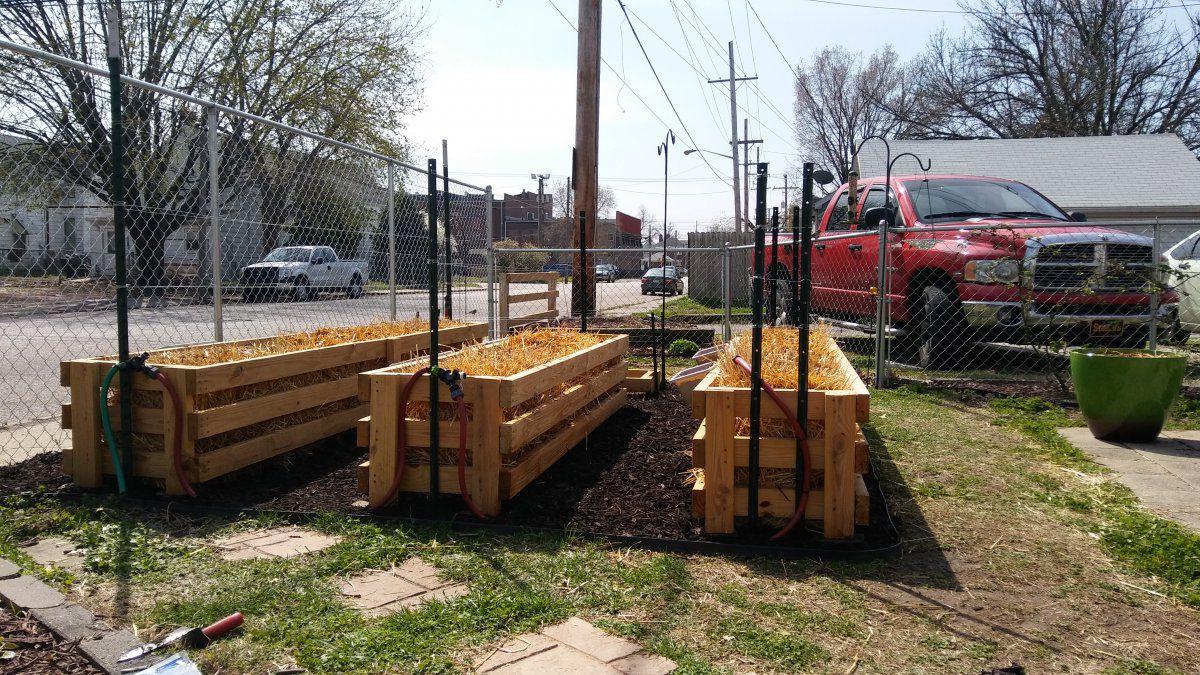 Straw Bale Garden Boxes | Gardening Forums