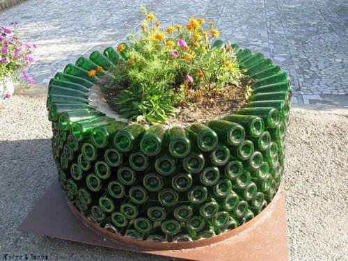 Glass bottle garden ideas | Gardening Forums
