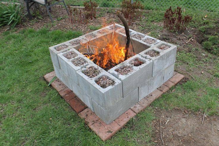 Cinder Blocks Jpg Firepit And Outdoor Sitting Area